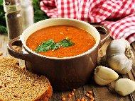 Рецепта Турска супа с червена леща, картофи, доматено пюре и подправки